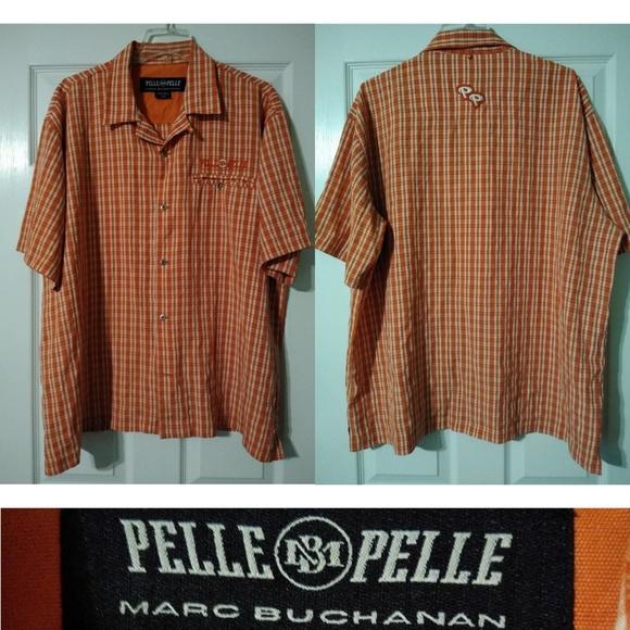 8dbb22fe10 Pelle Pelle Shirts   Marc Buchanan Vintage Shirt Orange Xl   Poshmark